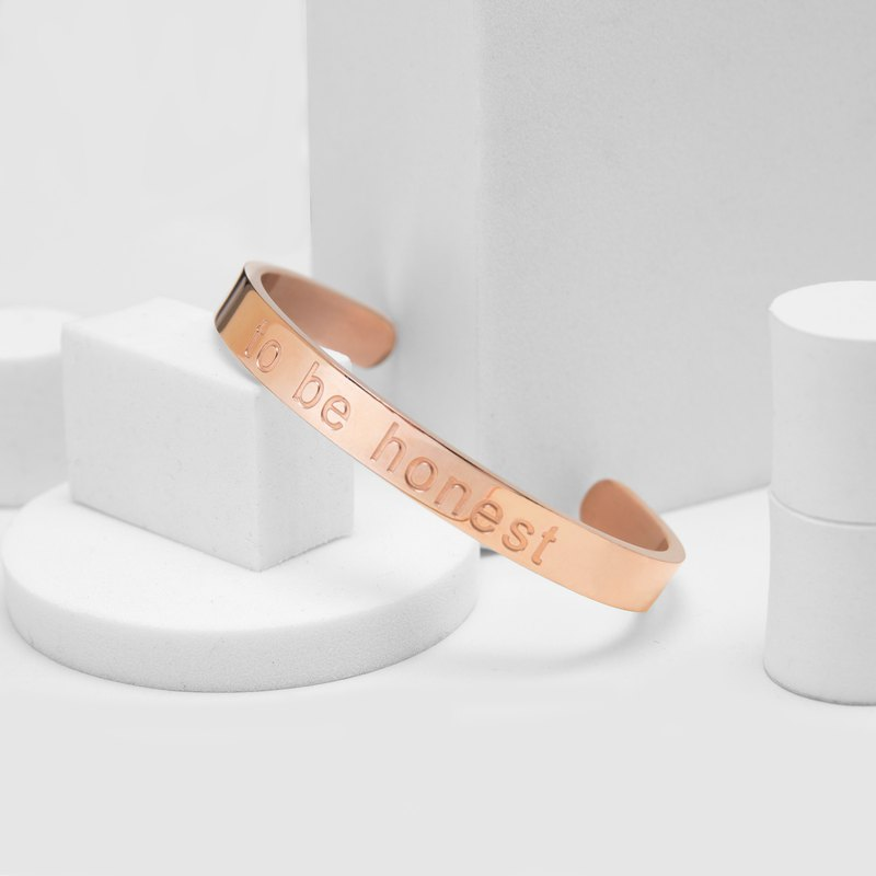 Recovery to be honest Honest Bracelet (Rose Gold)