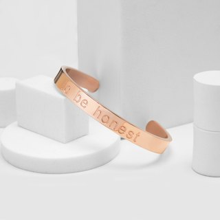 To be honest honest bracelet (rose gold)