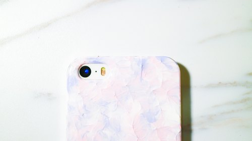 Pale lavender pink ice cream series ll ll hand-painted oil painting style Phone Case