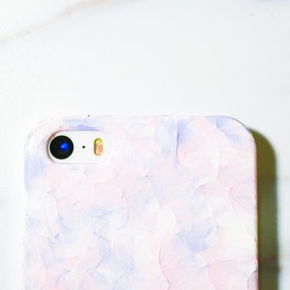 Ice cream series ll pink light lavender ll hand-painted oil painting wind phone shell