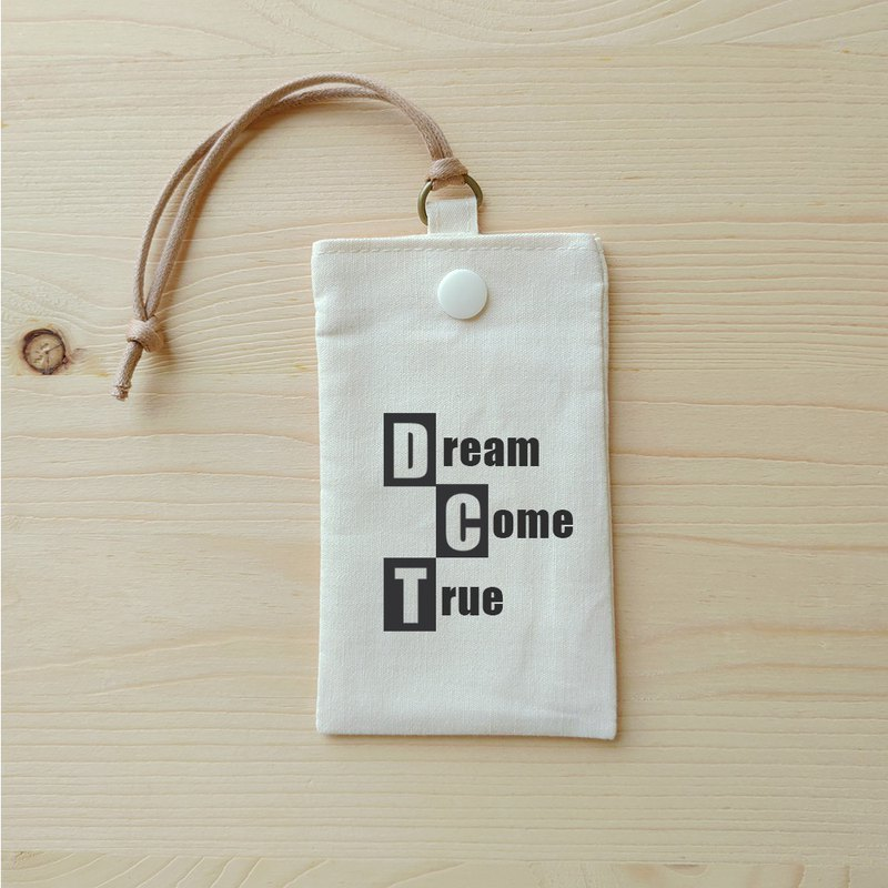 Positive energy simple card bag _dream come true