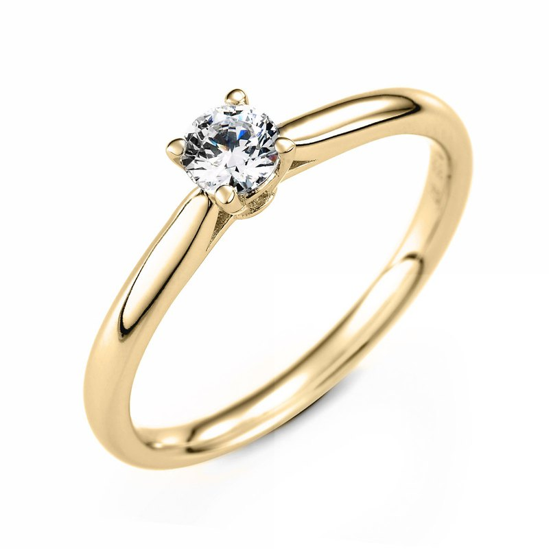:: Free Lettering :: Engagement Proposal Diamond Ring-14K Gold / 30 Points