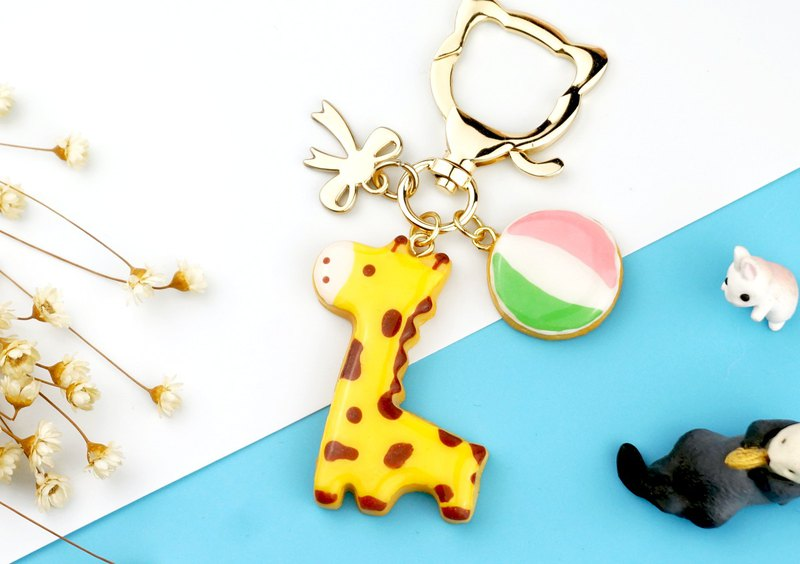Giraffe Simulation Sugar Cookie Biscuits / Key Ring