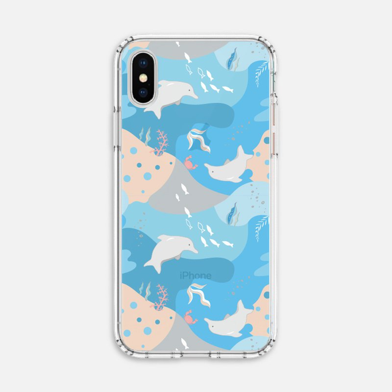 Conservation Animals [Cloud Tour White Dolphin] Anti-fall Soft Shell Mobile Shell iPhone Android/OPPO/ASUS