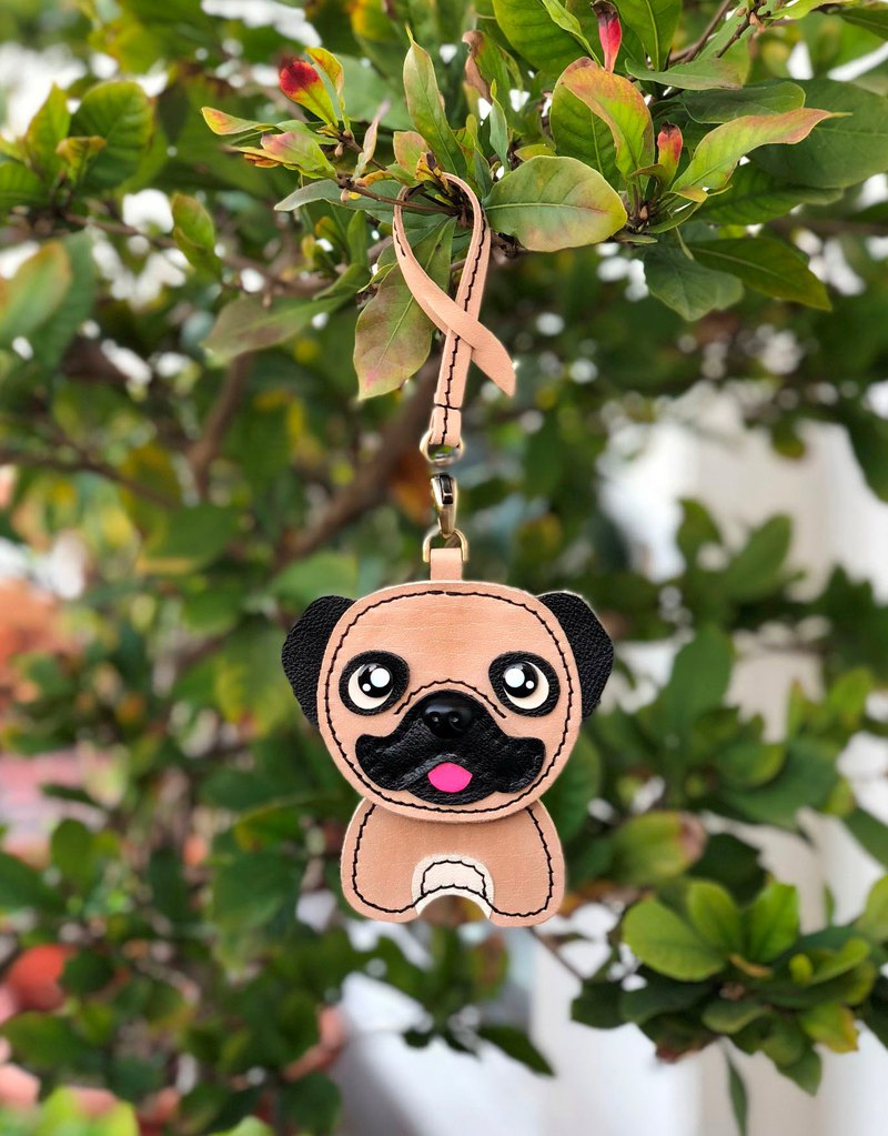 Bag leather ornaments - Meng Meng Baago Pug