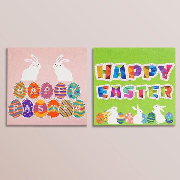 [] GFSD Rhinestone Collectibles - Hand Easter greeting card