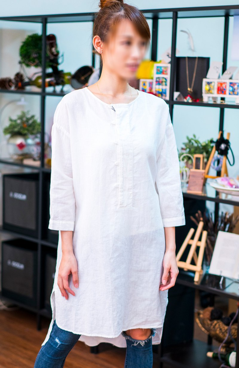 JL JOCELIN Chinese long cotton tunic