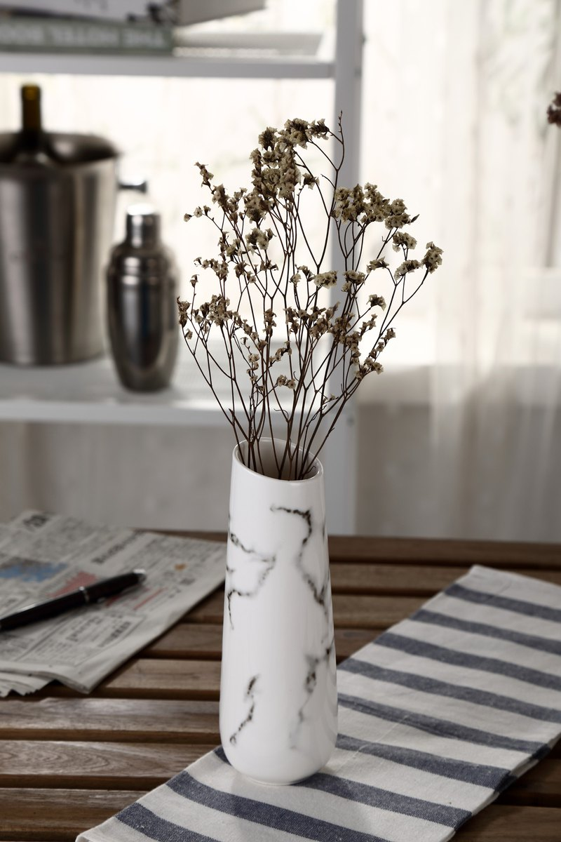 JEselect ceramic marble flower tube / small vase