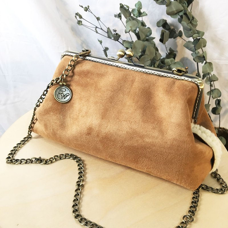 Handmade 2WAY 20cm frame shoulder bag -Nomad