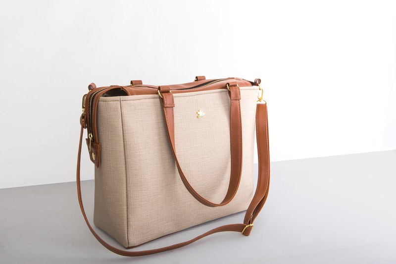 CLM will double buckle bag - apricot