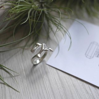 [Single piece] with branches: sterling silver forest wind branches hand ring