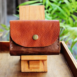 Double card leather purse