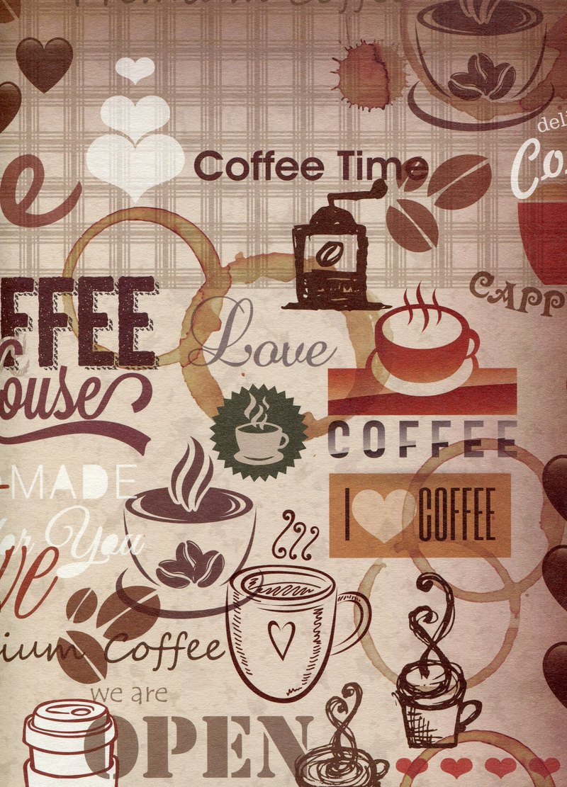 Moof World Coffee Wrapping Paper