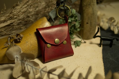 [Span] tiaotiao change party bag - Cherry Red / Italian vegetable tanned leather / handmade limited production / purse / red /