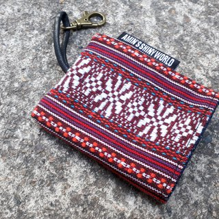 AMIN'S SHINY WORLD Handmade ethnic wind knitting key bag 05