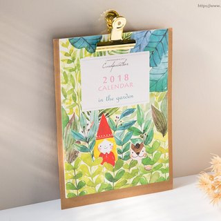 2018 watercolor wall calendar poster (with accessories) - Kai Ruo illustration
