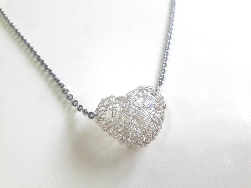 Man crystal heart short chain