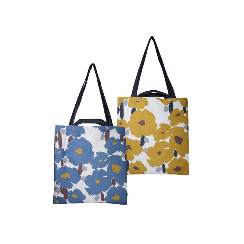 [draft / ciaogao] original design Nordic hand-painted style literary flower shopping bag