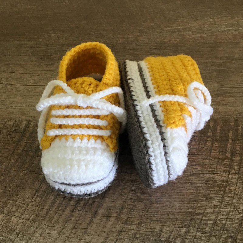 Toddler Sneaker Stylish Toddler Shoes Yellow Crochet Baby Booties Footwear