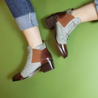Box color matching ankle boots || Knight forward two steps to E5 rate of gray || # 8081