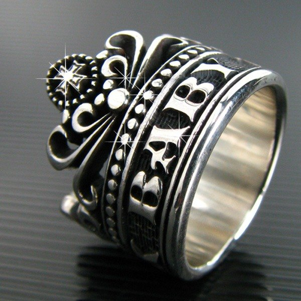 Customized .925 sterling silver jewelry RCW00012- name Crown Ring