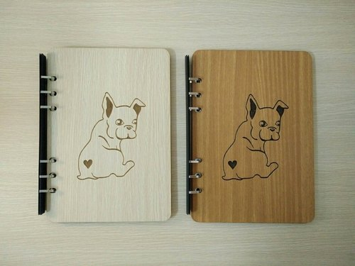 Taiwan stack [customization - color and logo can be replaced] A5 two loose-leaf 6-hole notebook - French Bulldog notebook / album / stationery / folders / gifts / gifts
