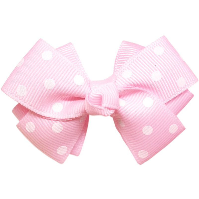 Double-layer two-color water jade little point bow hairpin all-inclusive cloth handmade hair accessories Pinky