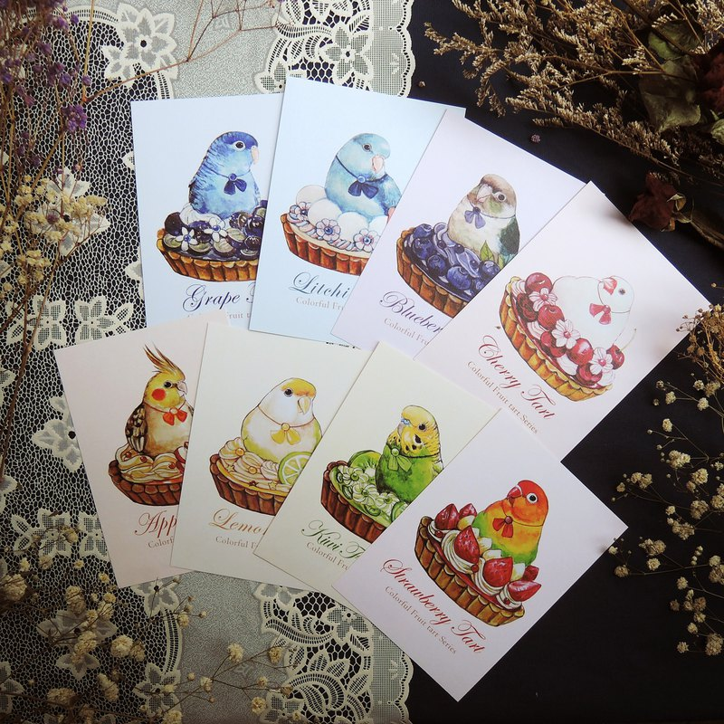 Colorful Fruit Tower Postcard Set
