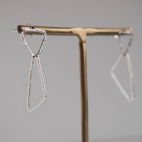 triangle earrings 【FP209】 silver