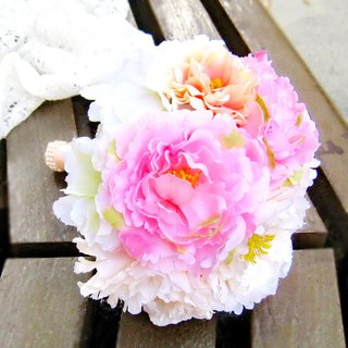 Peony Wedding flower bouquet, bridal bouquet, briidesmaid bouquet B007