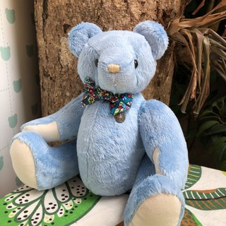 Handmade teddy bear marine velvet 34cm spot only one left