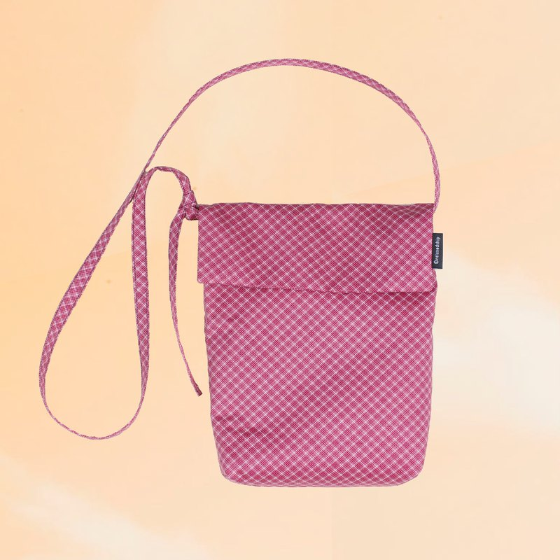 Flap Small Crossbody - Red Rhombus