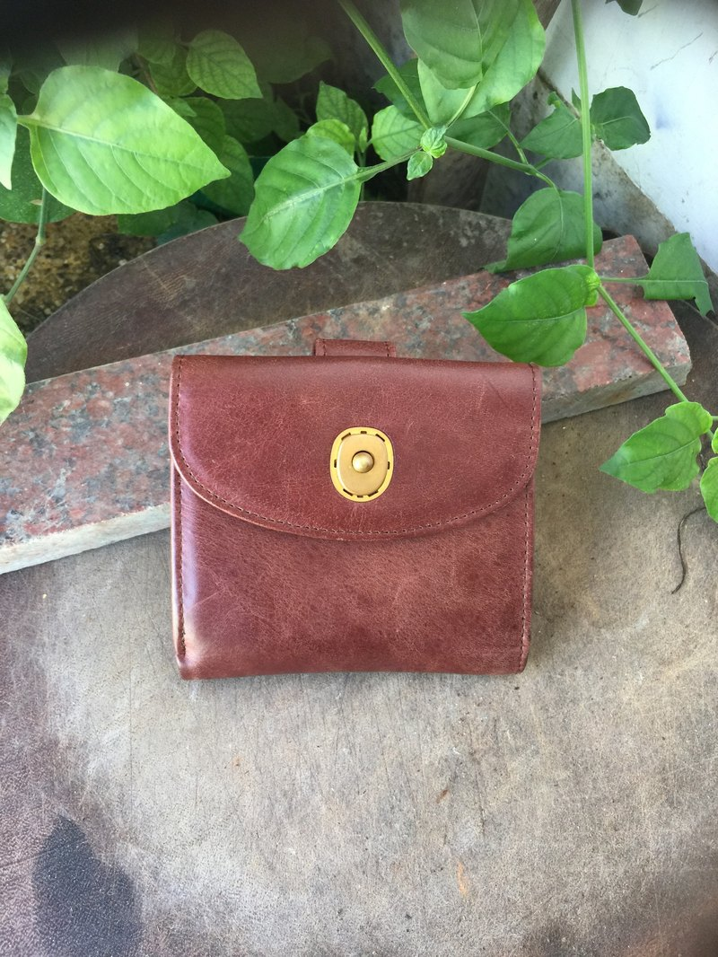 Sienna short leather wallet large capacity