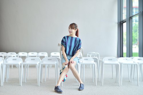 Mu煦: Striped Drawstring with Sleeve Top