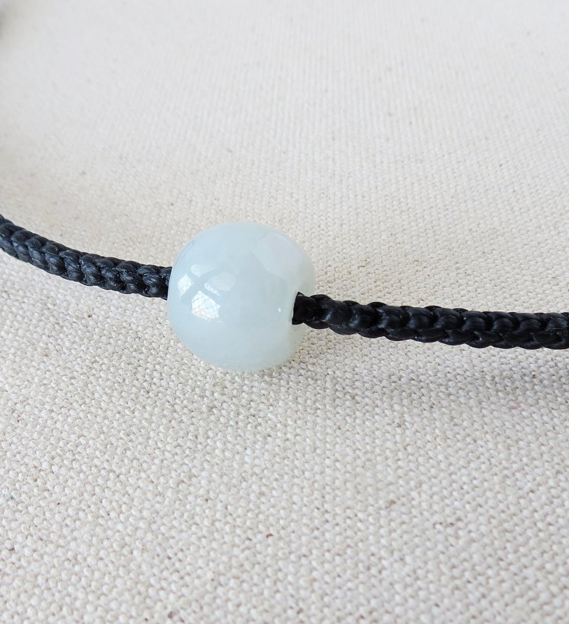 Sterling silver***fashion ice silk kind of pale color jade silk wax necklace***[eight strands series]