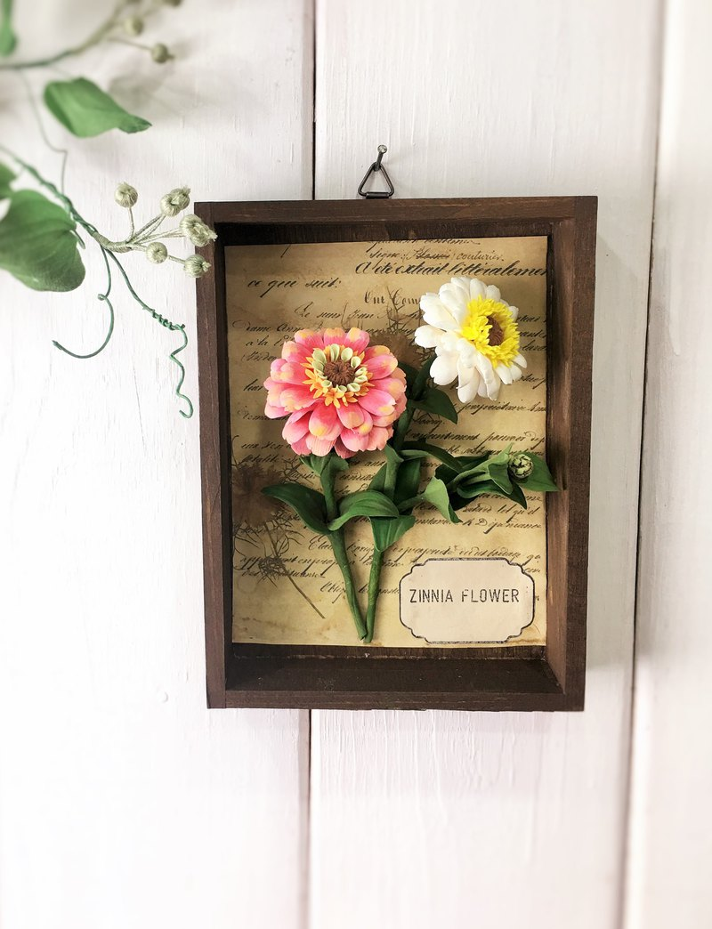 | Flower Picture Book─Hang Decoration Series | Zinnia/Clay Simulation Flower/Realistic Clay Flower