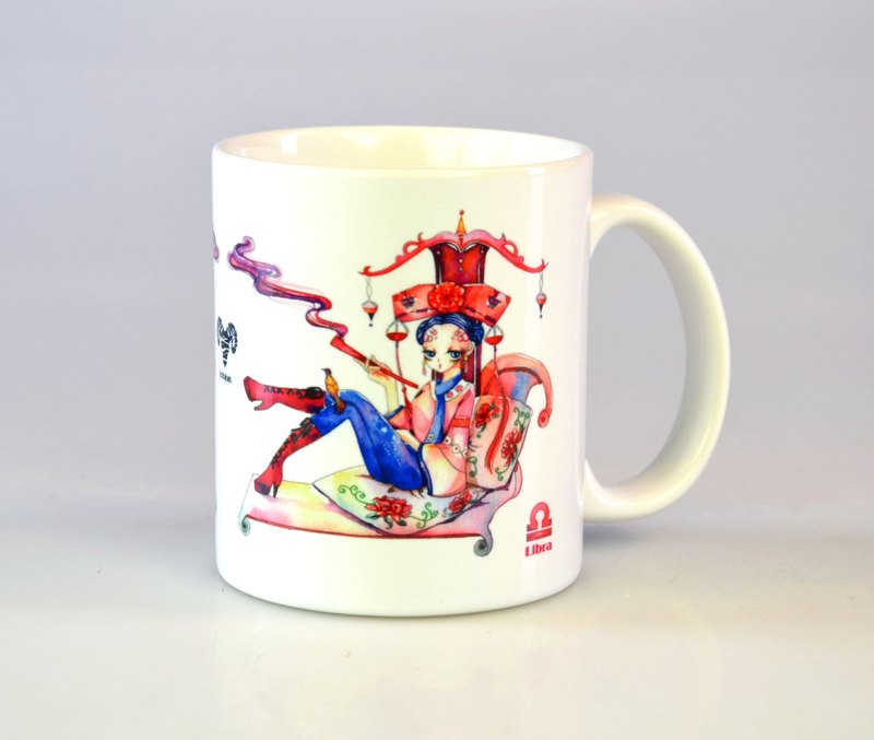 Tiger Rabbit - Libra / 12 constellation illustrations mug