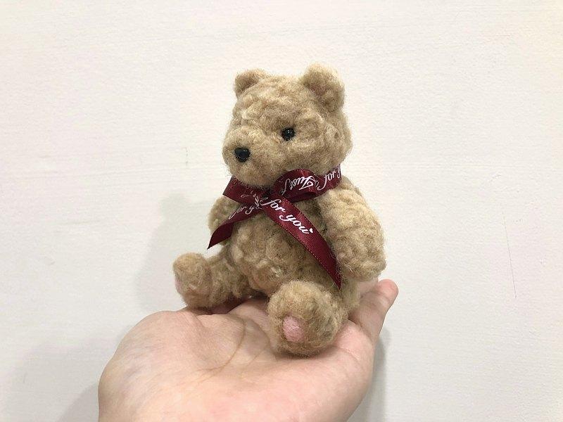 【เวิร์คช็อป】Wool felt hand-made course-palm teddy bear