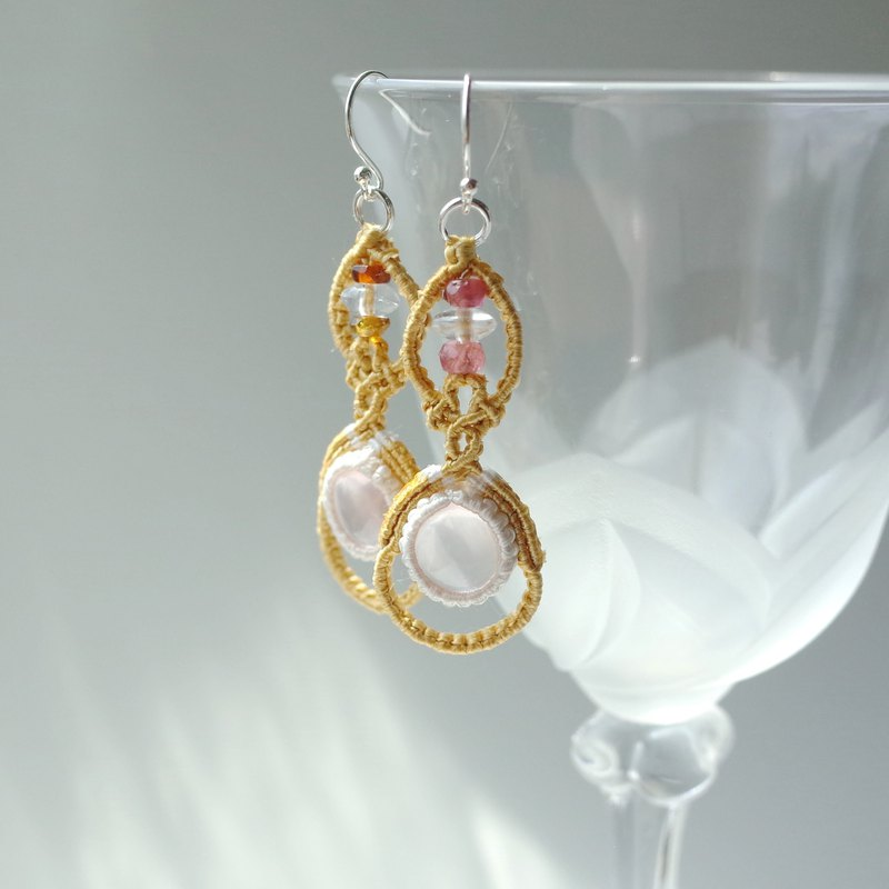 StarRosequartz/Thaisilk Earrings