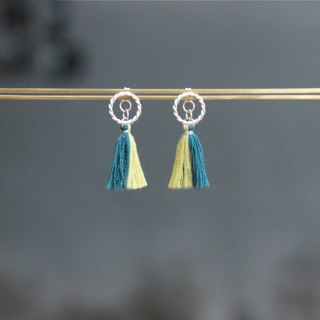 Gaze Design ▪ Planetary Tassels Series ▪ Saturn ▪ Handmade 925 sterling silver earrings | tiny tassels earrings | accessories