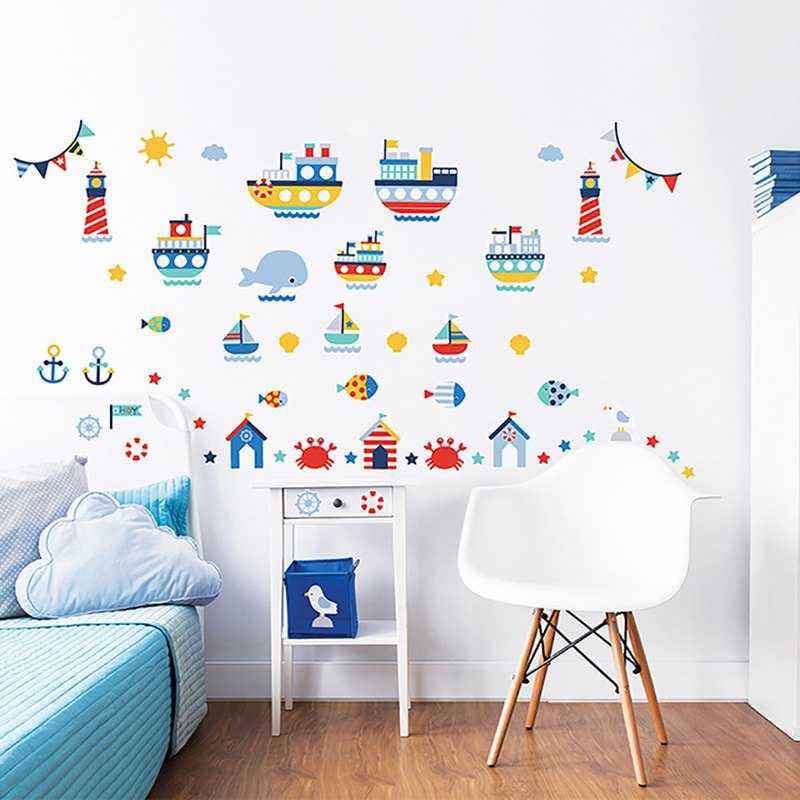 British Walltastic Children's Wall Stickers - The World of Navigation