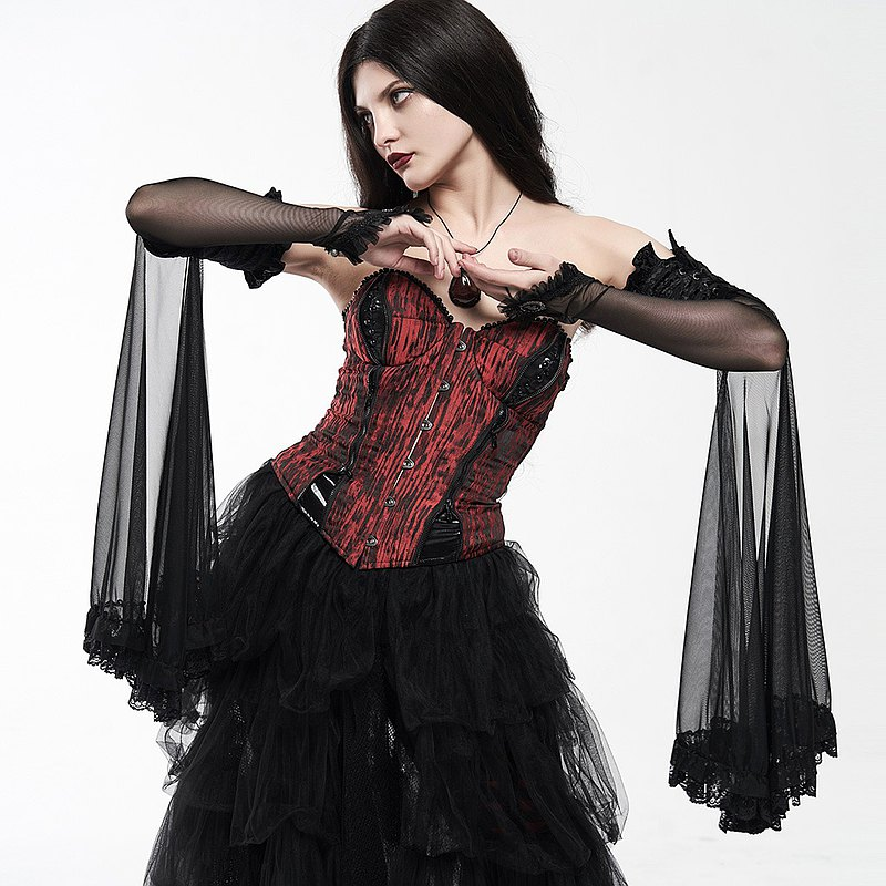 Christmas Magic | Gothic Lace Drape Long Gloves / Very limited