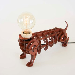 Wood Puzzle Lamp - DOG