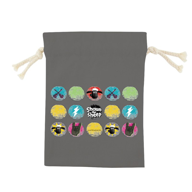 Shaun The Sheep Authorized - Color Draw Pocket - [Rock Time (Iron)], CB6AI04
