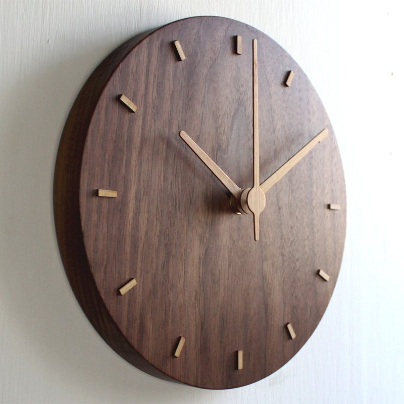 CLOCK_20 Taiwan handmade limited edition silent wall clock Walnut Christmas exchange gift