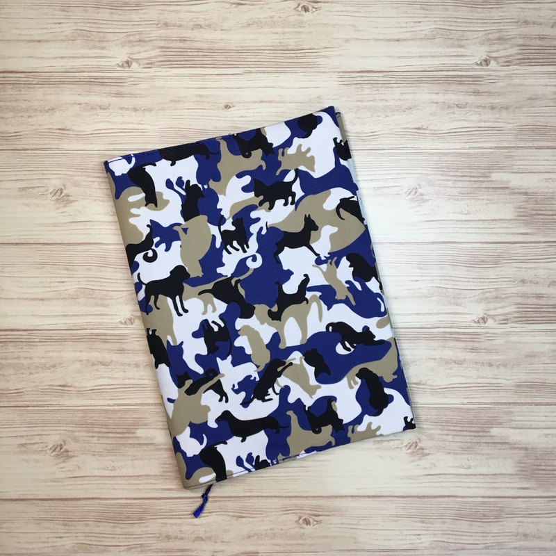 Blue camouflage animal A5 hand book cloth book / cloth book cover