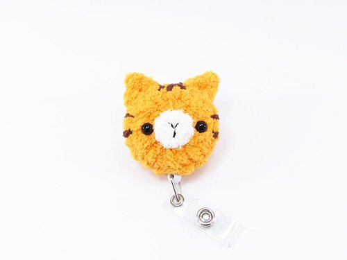 Orange Cat Retractable Ticket