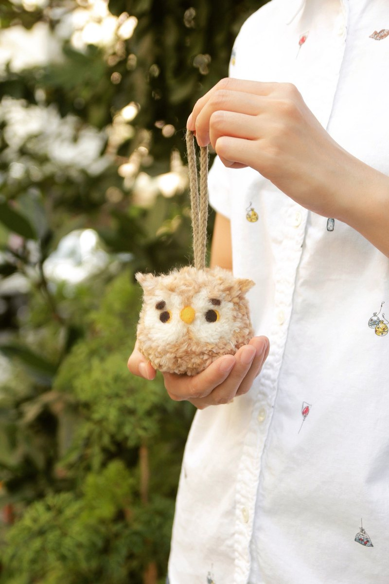 Two hands with two hands! Woolen Owl wool felt ball material package