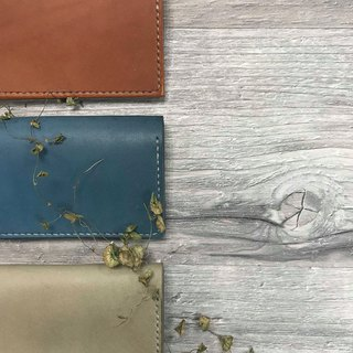 Minimalist plant transdermal dyed leather hand-stitched business card holder / a total of three colors