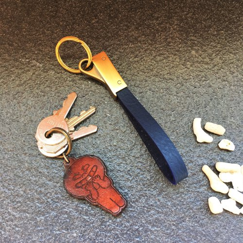 Hin window leather art - handmade leather - key ring activities ring hand-made vegetable tanned chrome tanning custom Wen-ching